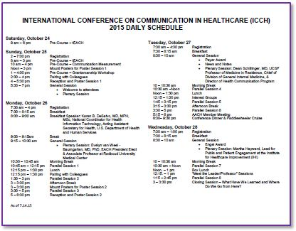 Academy Of Communication In Healthcare  Events  International
