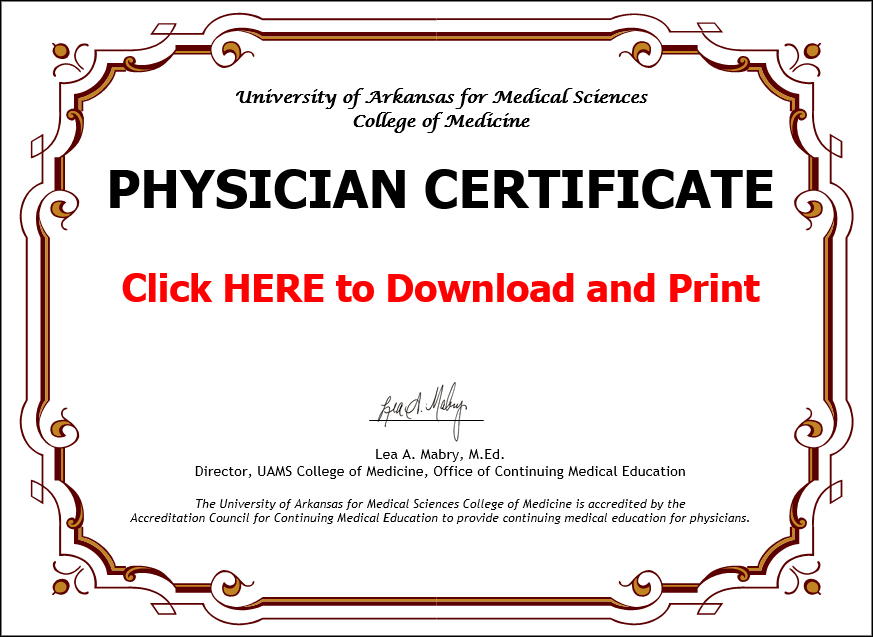Franciscan Health Cme Certificate